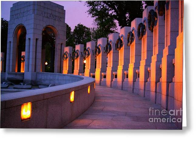 Greeting Card featuring the photograph World War II Memorial Washington Dc by John S
