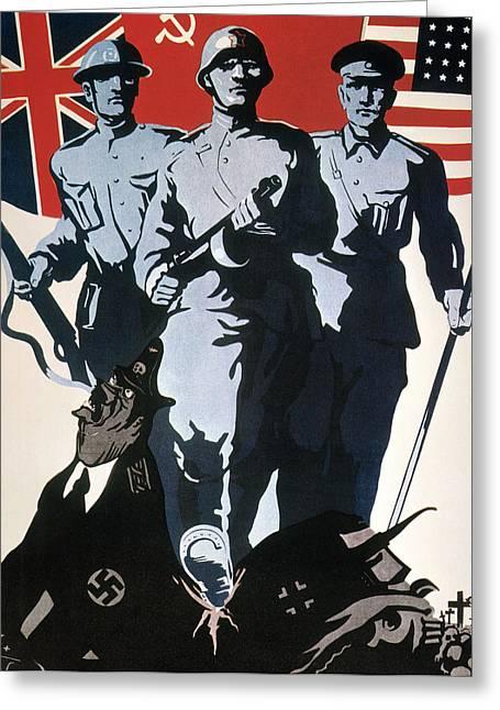 World War II: Soviet Poster Greeting Card by Granger