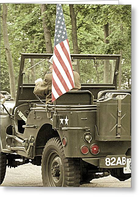 World War II Vet Greeting Card by Andrea Dale