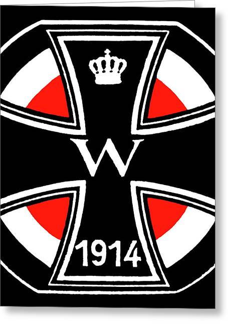 World War One Iron Cross Greeting Card by Historic Image