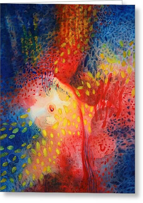 World Within Greeting Card by Lynda Hoffman-Snodgrass