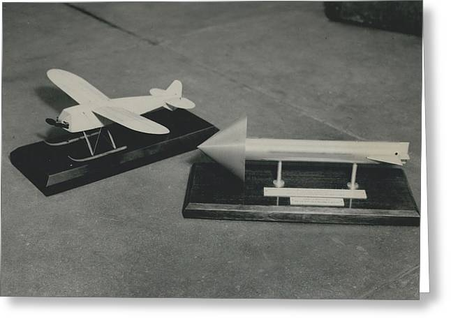 World�s First Guided Missile Control Gear Handed Over To Greeting Card by Retro Images Archive