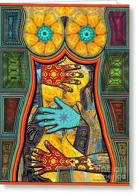 Worlds Inside Greeting Card by Joseph J Stevens
