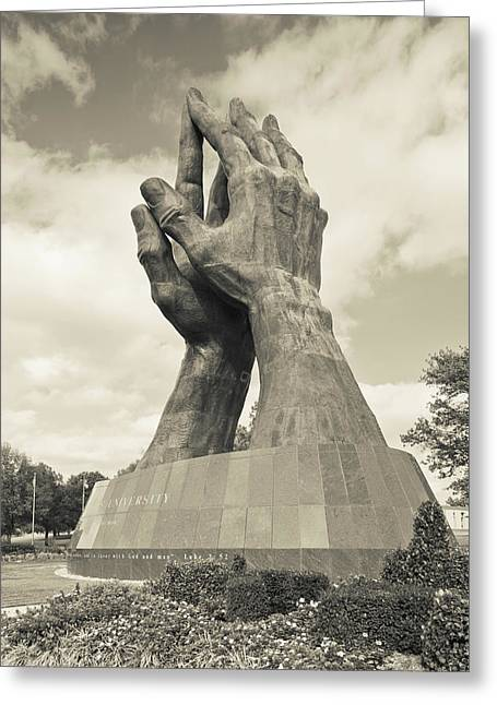 Worlds Largest Praying Hands Sculpture Greeting Card by Panoramic Images