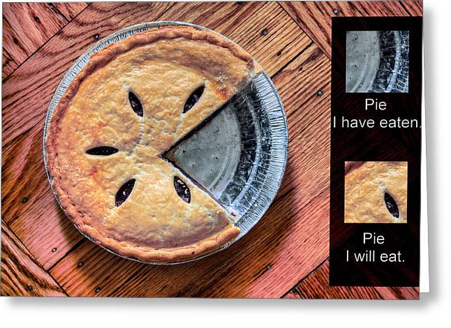 Worlds Most Accurate Pie Chart Greeting Card by JC Findley