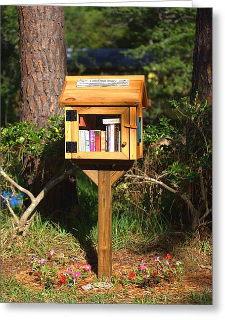 Greeting Card featuring the photograph World's Smallest Library by Gordon Elwell