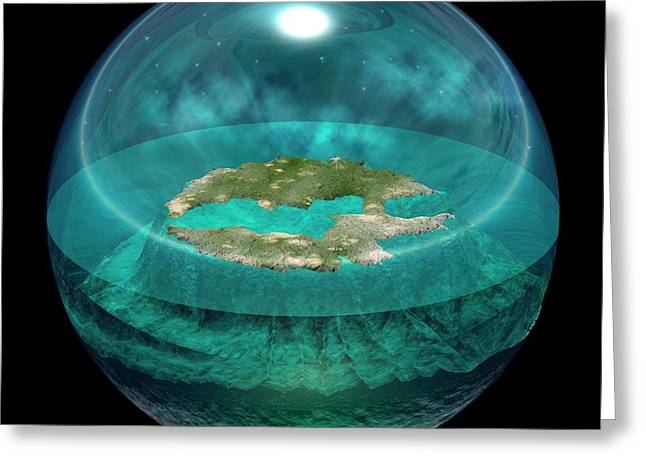 Worldview Of Thales Of Miletus Greeting Card by Carlos Clarivan