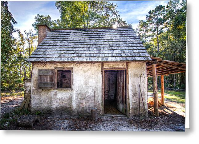 Wormsloe Cabin Greeting Card by Mark Andrew Thomas