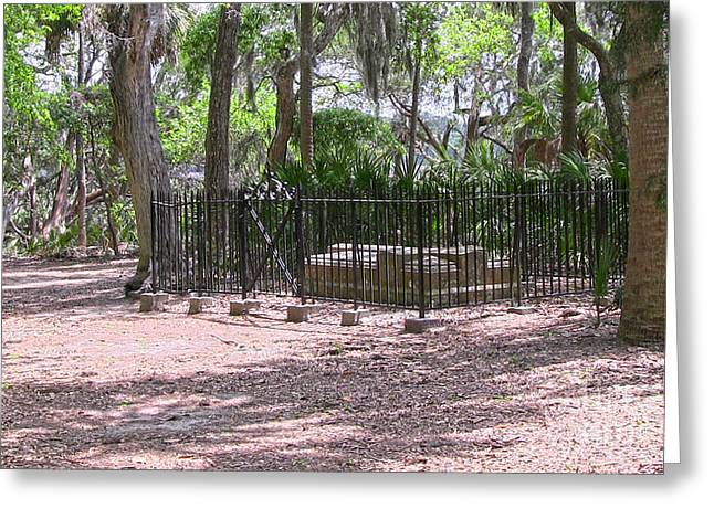 Wormsloe Cemetery Plot Greeting Card by D Wallace