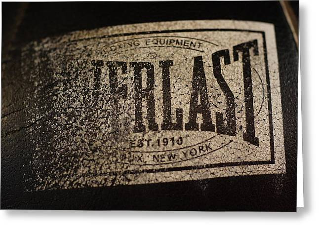 Worn Everlast Speed Bag Greeting Card by Colleen Renshaw