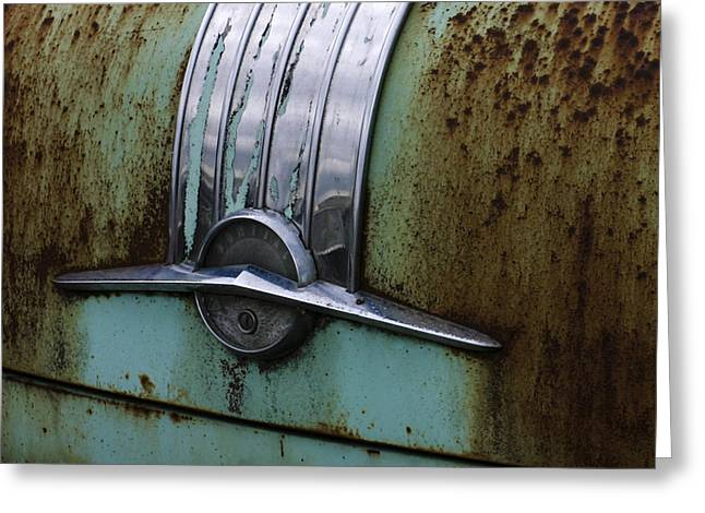 Worn Out Trunk Greeting Card by Jean Noren