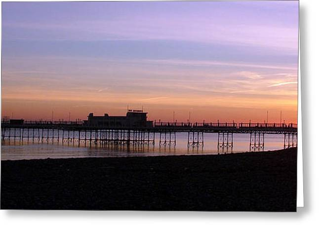 Worthing Pier Sunset Greeting Card by Mark Bowden