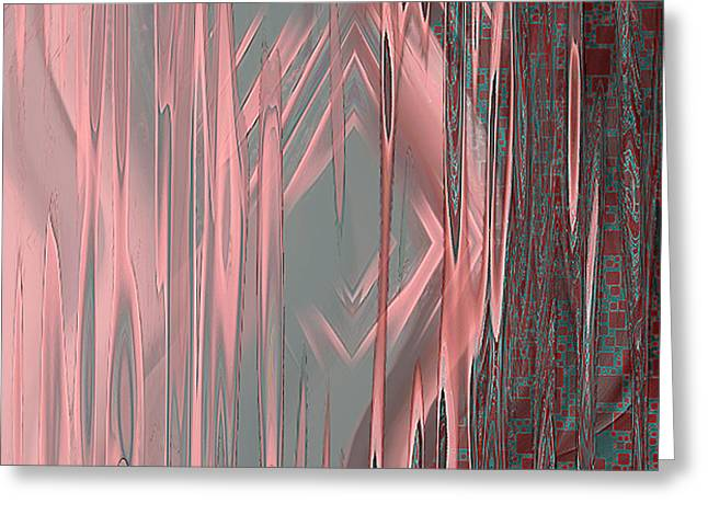Greeting Card featuring the digital art Wounds - Abstract Art By Giada Rossi by Giada Rossi
