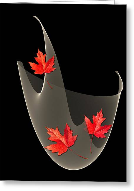 Woven Maple Leaves Greeting Card