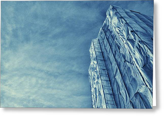 Wrapped Cathedral Greeting Card by John Hansen