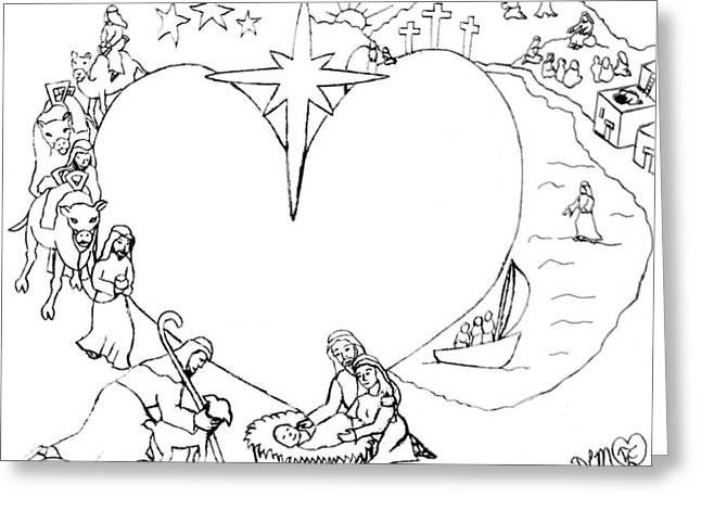 Wrapped In The Arms Of His Love Greeting Card by Dawna Morton