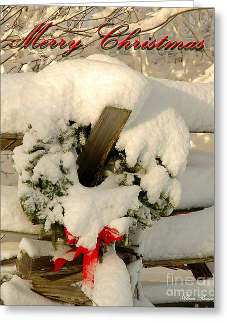 Greeting Card featuring the photograph Wreath  by Alana Ranney
