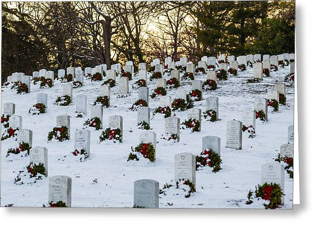 Wreaths At Arlington National Cemetery Greeting Card