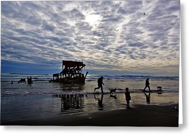 Wreck Of The Peter Iredale, Warrenton Greeting Card