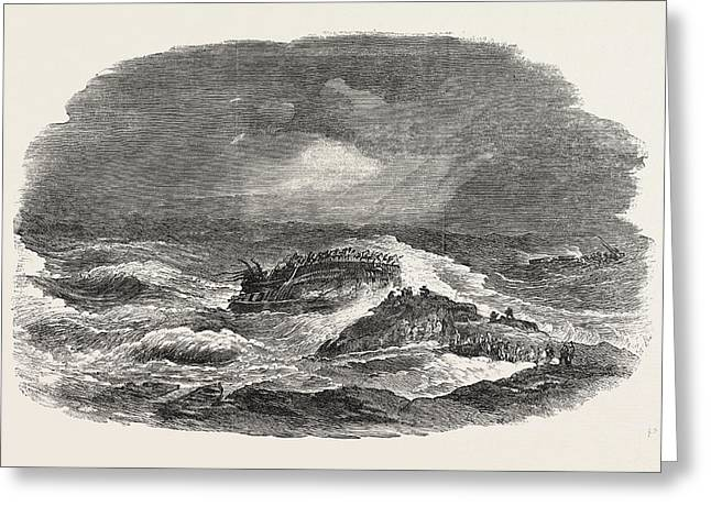 Wreck Of The Troop-ship Charlotte In Algoa Bay 1854 Greeting Card by English School