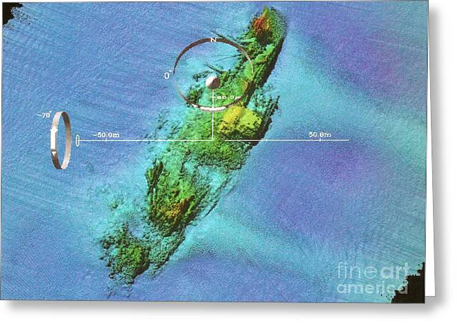 Wreck Of Uss Susan B. Anthony Greeting Card