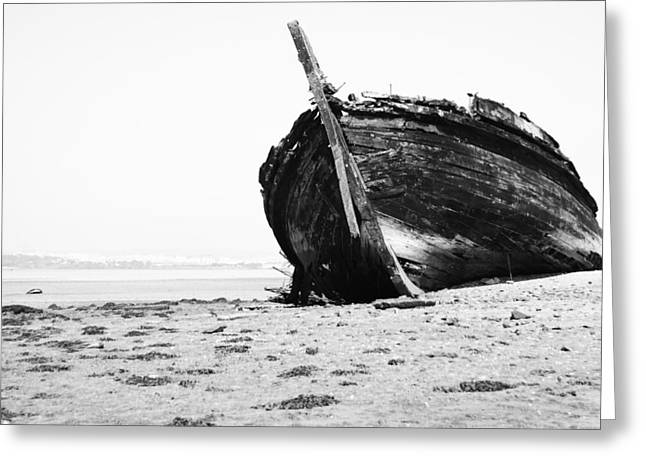 Wreckage On The Bay Greeting Card by Marco Oliveira