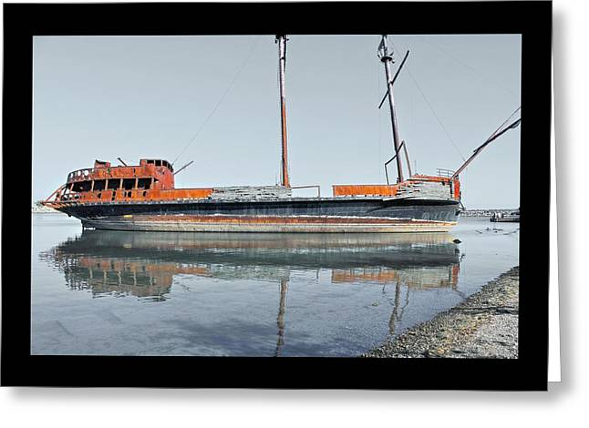Wreck Reflection Greeting Card