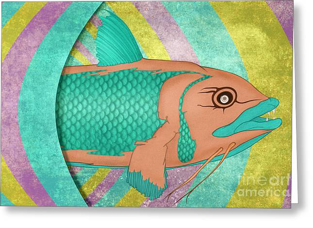 Wreckfish Greeting Card by Bruce Stanfield