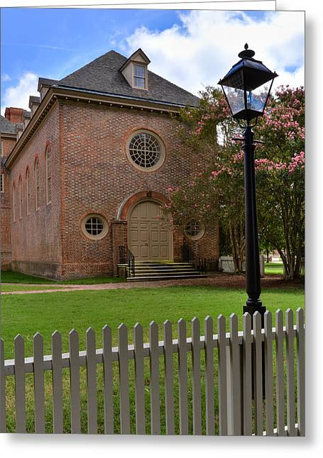 Wren Chapel At William And Mary Greeting Card by Jerry Gammon