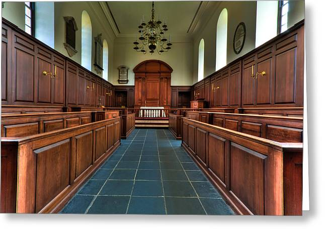 Wren Chapel Interior Greeting Card by Jerry Gammon