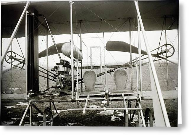 Wright Biplane Engine And Seats Greeting Card by Library Of Congress