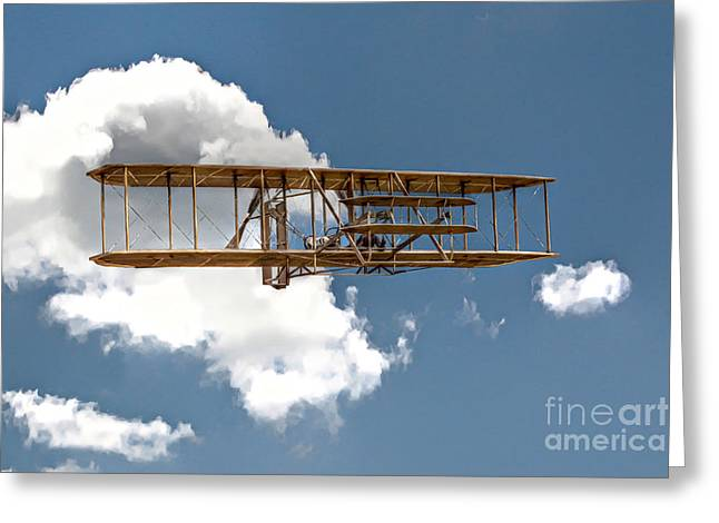 Wright Brothers First Flight Greeting Card by Randy Steele