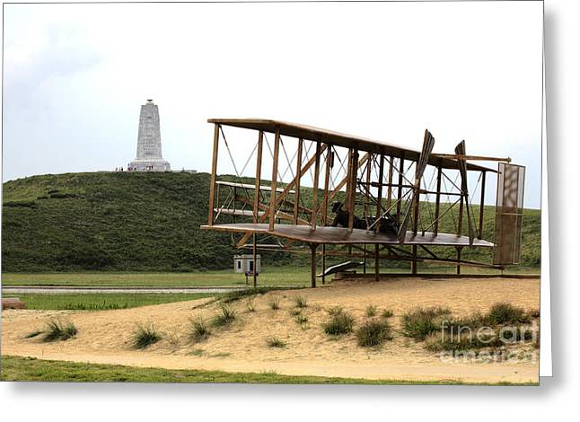 Wright Brothers Memorial At Kitty Hawk Greeting Card