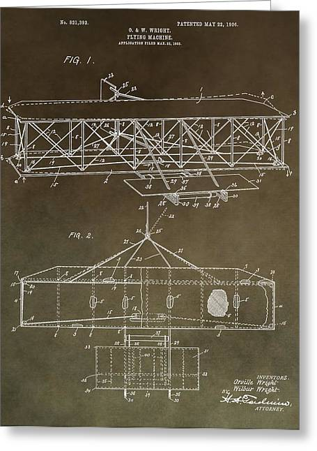 Wright Brothers Original Patent Greeting Card