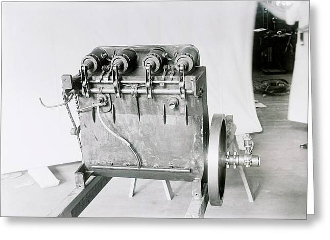 Wright Flyer Aircraft Engine Greeting Card by Library Of Congress