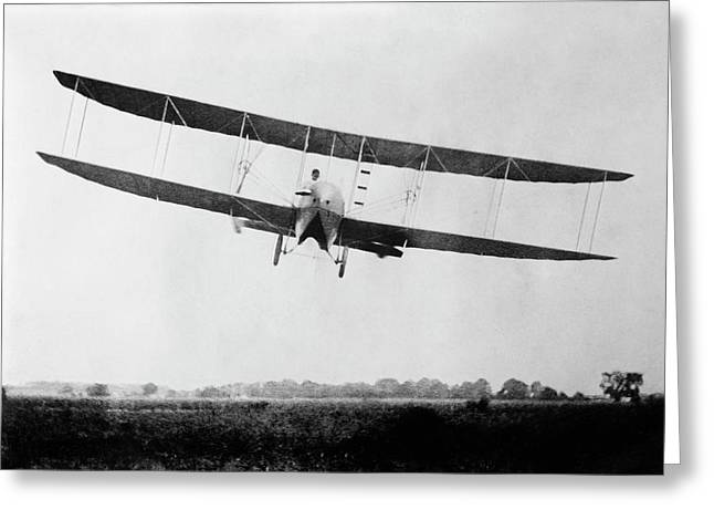 Wright Model H Airplane Greeting Card by Library Of Congress