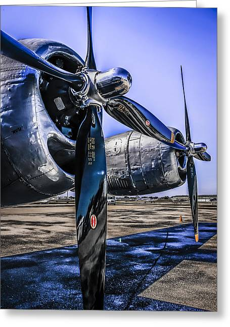 Wright R-3350 Greeting Card by Chris Smith