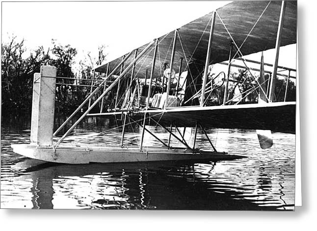 Wright Seaplane, 1913 Greeting Card by Science Source