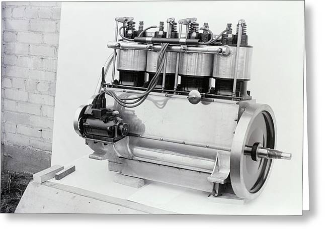 Wright Vertical 4 Aircraft Engine Greeting Card