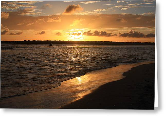 Wrightsville Beach Sunset - North Carolina Greeting Card by Mountains to the Sea Photo