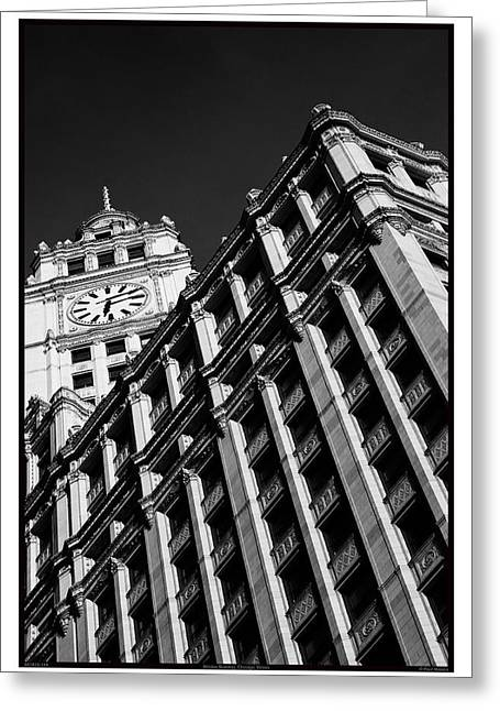 Wrigley Building - 05.16.10_144 Greeting Card by Paul Hasara