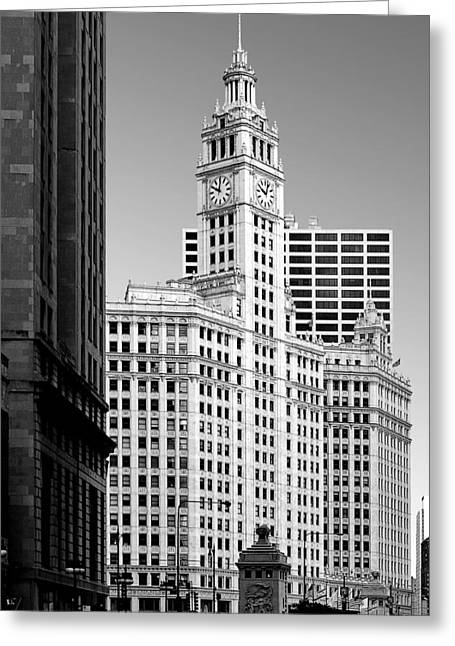 Wrigley Building - A Chicago Original Greeting Card by Christine Till