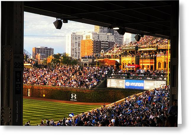 Wrigley Field Aisle 229 Greeting Card by Thomas Woolworth