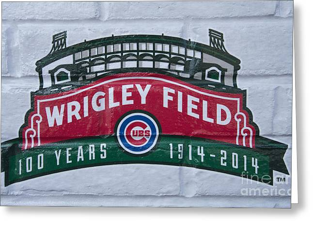 Wrigley Field At 100 Greeting Card by David Bearden