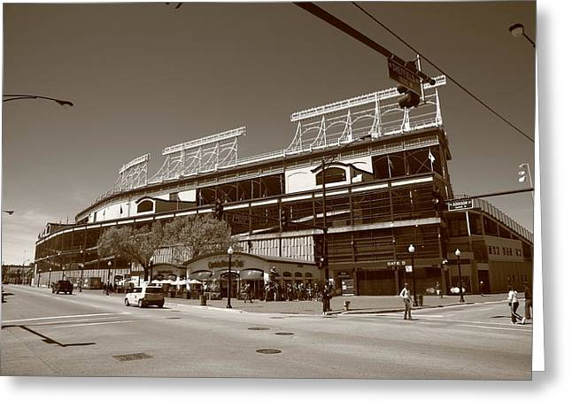 Wrigley Field - Chicago Cubs 23 Greeting Card by Frank Romeo