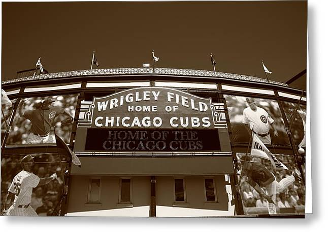 Wrigley Field - Chicago Cubs 28 Greeting Card by Frank Romeo