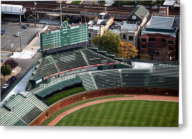 Wrigley Field Chicago Sports 04 Greeting Card by Thomas Woolworth