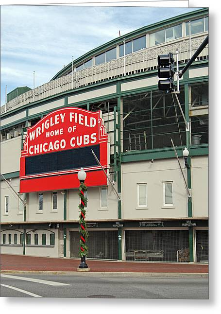 Wrigley Field Greeting Card by Skip Willits