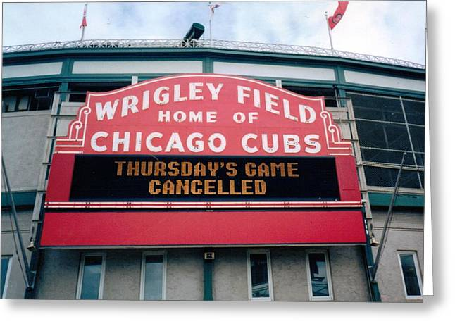 Wrigley Field Weeps For America Greeting Card