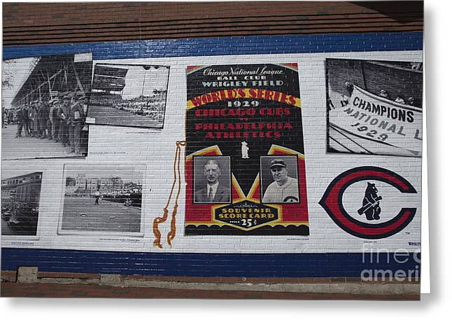 Wrigley Images - 1929 Greeting Card by David Bearden